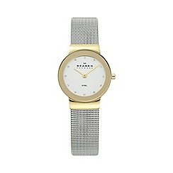 Skagen - Ladies gold two tone mesh watch 358sgscd