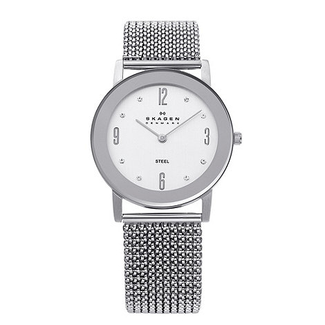 Skagen - Ladies silver round dial watch