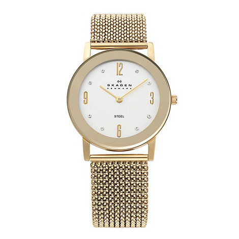 Skagen - Ladies gold round dial watch