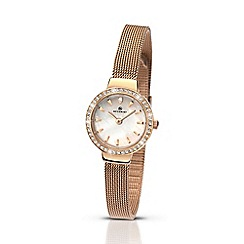 Accurist - Women's rose gold plated Milanese bracelet watch 8143.01
