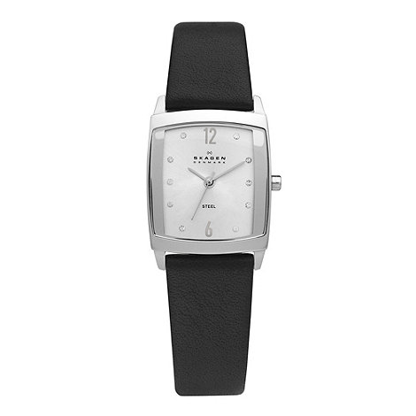 Skagen - Ladies black square face watch