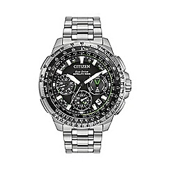 Citizen - Men's Stainless Steel Satellite Wave GPS Chronograph Watch
