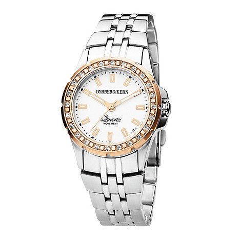 Dyrberg Kern - Ladies rose dial SWAROVSKI crystal bezel watch