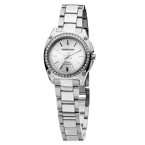 Dyrberg Kern - Ladies silver round dial SWAROVSKI crystal bezel watch