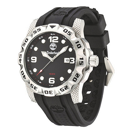 Timberland - Men's black strap sports watch
