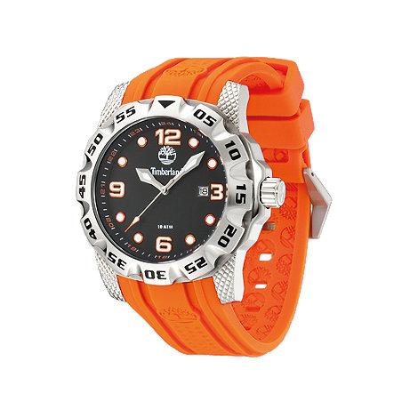 Timberland - Men+s orange strap sports watch