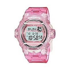 Casio - Ladies pink 'Baby G'  world time digital watch bg-169r-4er