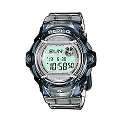 Casio - Ladies grey 'Baby G'  world time digital watch bg-169r-8er
