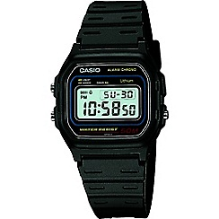 Casio - Unisex black 'Core' retro alarm watch w-59-1vqes