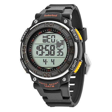 Timberland - Men+s black +cadion+ digital rubber wrist watch