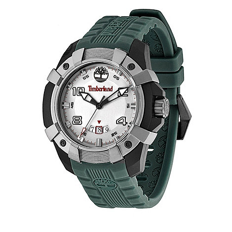 Timberland - Men+s green +chocorua+ plastic analogue watch