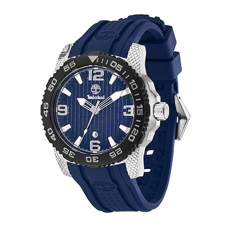 Timberland - Men+s navy +sandown+ rubber wrist watch