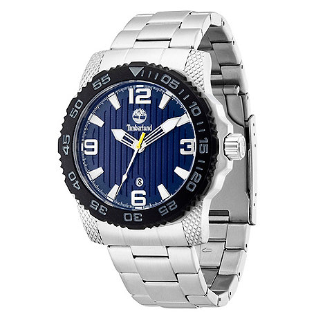 Timberland - Men+s silver +sandown  stainless steel bracelet watch