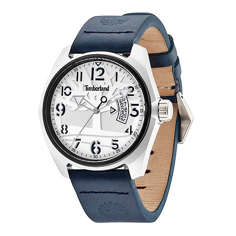 Timberland - Men+s blue +sherington+ analogue leather wrist watch