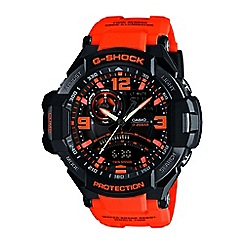 Casio - Men's orange 'G Shock' premium chronograph watch ga-1000-4aer