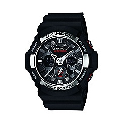 Casio - Men's black 'G Shock' chronograph digital watch ga-200-1aer