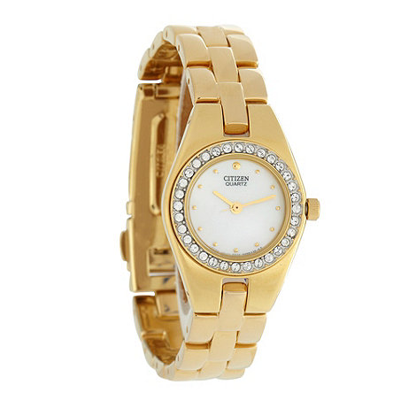 Citizen - Ladies gold swarovksi watch and bracelet