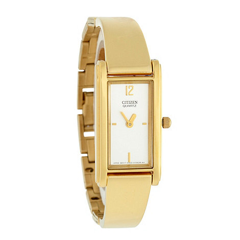 Citizen - Ladies gold semi bangle watch
