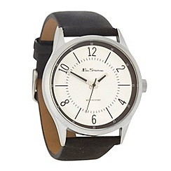 Ben Sherman - Men's black silver dial watch