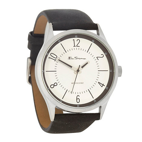 Ben Sherman - Men+s black silver dial watch