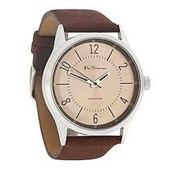 Ben Sherman - Men's brown silver dial watch
