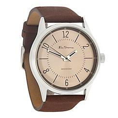 Ben Sherman - Men's brown silver dial watch