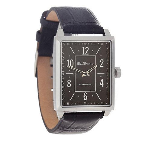 Ben Sherman - Men+s black rectangle dial watch