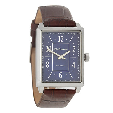 Ben Sherman - Men+s brown rectangle dial watch r943