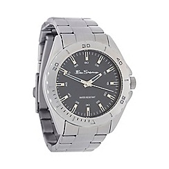Ben Sherman - Men's silver stainless steel bracelet watch