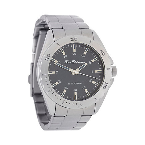 Ben Sherman - Men+s silver stainless steel bracelet watch