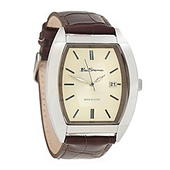 Ben Sherman - Men's brown tonneau dial watch