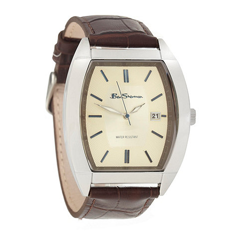 Ben Sherman - Men+s brown tonneau dial watch