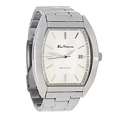 Ben Sherman - Men's silver stainless steel tonneau dial watch