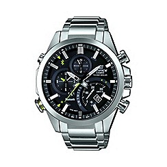 Casio - Men's silver 'Edifice' Bluetooth stainless steel  watch eqb-500d-1aer