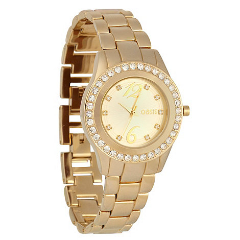 Oasis - Ladies gold stone dial bracelet watch