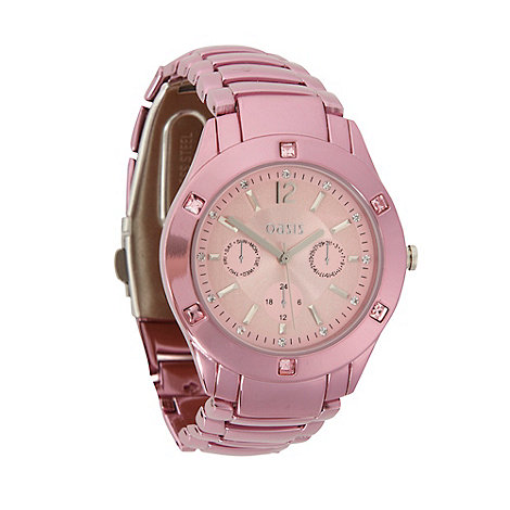 Oasis - Ladies pink stainless steel bracelet watch