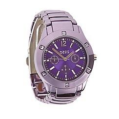 Oasis - Ladies purple stainless steel bracelet watch
