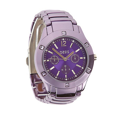 Oasis - Ladies purple stainless steel bracelet watch