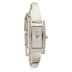 Oasis - Ladies silver bangle bracelet watch