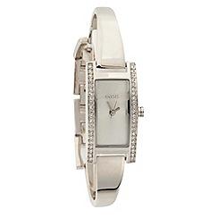 Oasis - Ladies silver bangle bracelet watch