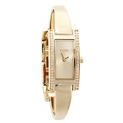 Oasis - Ladies gold bangle bracelet watch