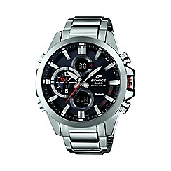 Casio - Men's silver 'Edifice' Bluetooth tough solar watch ecb-500d-1aer