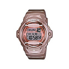Casio - Ladies Rose Gold 'Baby G' sporty world time digital watch