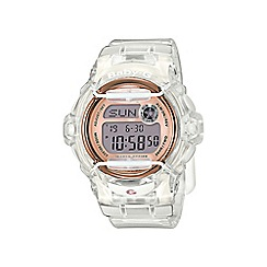 Casio - Ladies white 'Baby G' sporty world time digital watch bg-169g-7ber