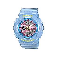 Casio - Ladies Neo pastel blue 'Baby G' world time digital watch