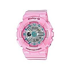 Casio - Ladies Neo pastel pink 'Baby G'  world time digital watch