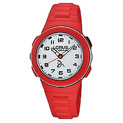 Lorus - Kid's white dial red strap watch r2369kx9