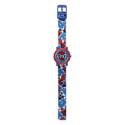 Spider-man - Children's QA Watch, with a blue strap and blue dial spm56