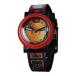 The Avengers - Children's QA Watch, with a multi coloured strap and a yellow dial mar109
