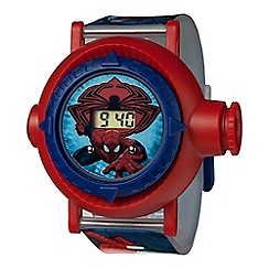 Spider-man - Children's Digital Watch, with a blue strap and a red dial spm59